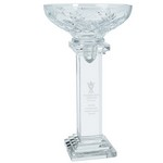Conquest Full Lead Crystal Bowl on Tall Base