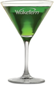 10.25 oz Deep Etched Rona Martini Glass