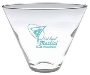 Stemless Martini Glass with Custom Imprint 13.5 oz