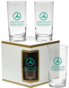 Deluxe Beverage Glasses 12 oz - Set of 4 in Premium Set Box