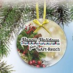 Glass Ornament with Full Color Imprint -Circle