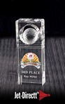 Absolute Golf Trophy - Small Optical Crystal Award