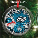 Glass Ornaments with Full Color Digital Imprint