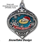 Bling Glitter Fill Ornaments - Snow Flakes