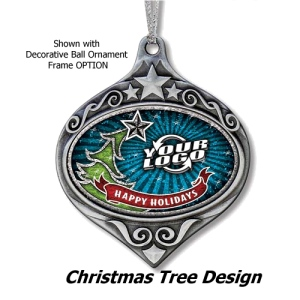 Bling Glitter Fill Ornaments - Christmas Tree