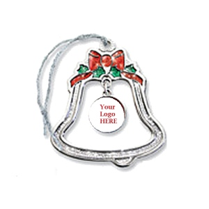 Bell Shape Platinum Sparkling Ornament