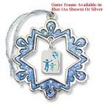 Snowflake Platinum Sparkling Ornament