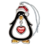 Holiday Penguin Platinum Sparkling Ornament