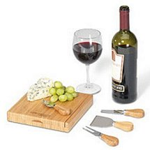 Cutting Boards with Cheese Tools