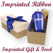 Gift Box with Imprinted Drinkware and Candy or Nut Filling