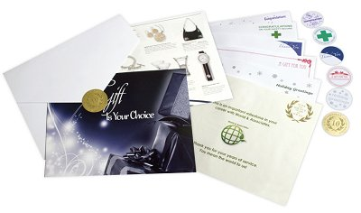 Employee Recognition Gift Inserts with themes