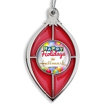 Red Translucent Stained Glass Effect Custom Ornament