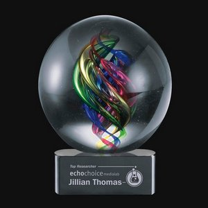 Galileo Award on Black Base - 6 in. Diam