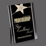 Pickering Acrylic Star Award - 5 in.x7 in. Gold