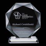 Bradford Award - Jade Glass Award 6 in.