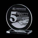 Victoria Award - Jade Glass Award 5 in.
