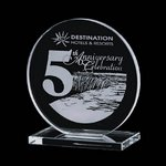 Victoria Award - Jade Glass Award 6 in.
