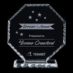 Stockton Award - Jade Glass Award 6 in.