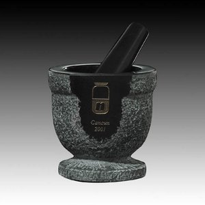 Pestle and Mortar - Black Marble