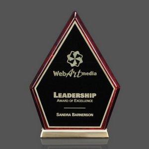 Arabella Award - Rosewood Hexagon on Aluminum Base 7?in