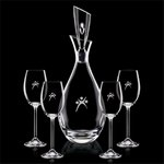Juliette Decanter and 4 Wine Glasses Engraved