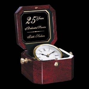 Heath Clock - Rosewood 6 in.x5 in.