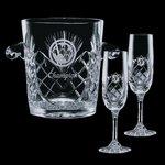 Cavanaugh Wine Glasses Engraved Cooler and 2 Flutes