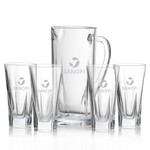 Chesswood Pitcher and 4 Hiball Glass Glass