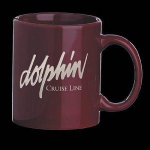 Malibu Coffee Mug - 12oz Burgundy