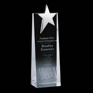 Fanshaw Star Award - Optical Cystal with Chrome Star 8 in.