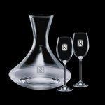 Senderwood Carafe and 2 Wine Glasses Engraved