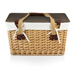 Canasta Grande Wicker Basket, (Natural Willow with Brown Lid &