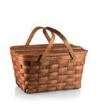 Prairie Picnic Basket Natural Wood