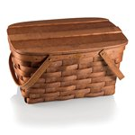 Prairie Picnic Basket, (Natural Wood)