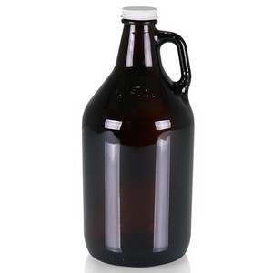 Glass 64-oz. Growler, (Amber Translucent)