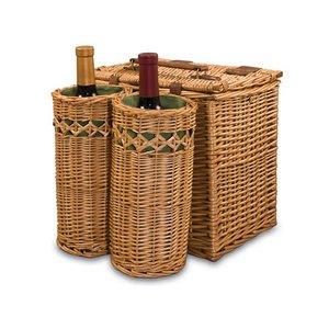 Vino Wine & Cheese Basket, (Pine Green with Nouveau Grape Print