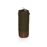 Malbec Insulated Canvas & Willow Wine Bottle Basket