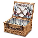 Bristol-Blue Plaid English Style Willow Basket Service F/2
