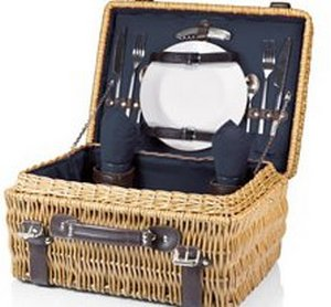 Champion-Navy Picnic Basket f/2