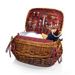 Highlander- Willow Red Tartan Dlx Picnic Basket f/4