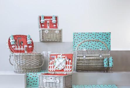 'Romance' Picnic Basket, (Watermelon Collection)