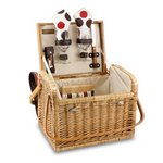 Kabrio Picnic Basket with Cutting Board and Cheese Tools - Moka
