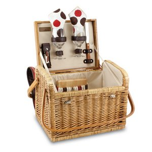 'Kabrio' Wine & Cheese Basket, (Moka Collection)