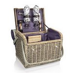 Kabrio Picnic Basket with Cutting Board and Cheese Tools - Aviano