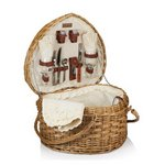 Heart Picnic Basket, (Antique White)