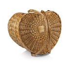 Heart Basket- Willow with Cream Lining