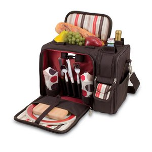 Malibu Picnic Backpack with Wine Compartment  -Moka
