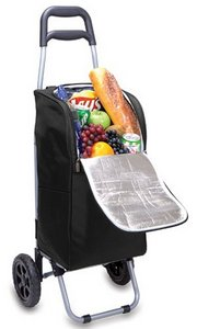 Cart Cooler with Trolley, (Black)