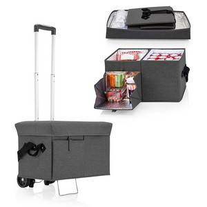 Ottoman Cooler & Seat with Trolley, (Grey)