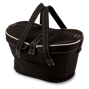Mercado Basket Cooler Tote, (Black)